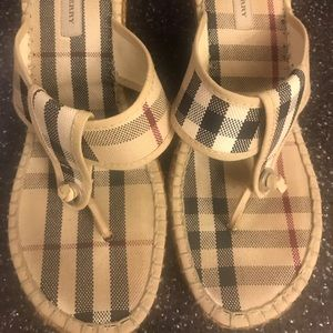 Burberry sandals wedges.
